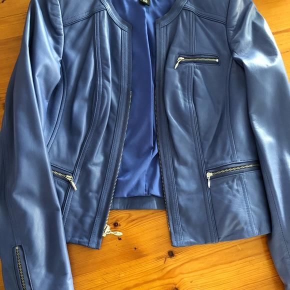 White House Black Market Leather Jacket